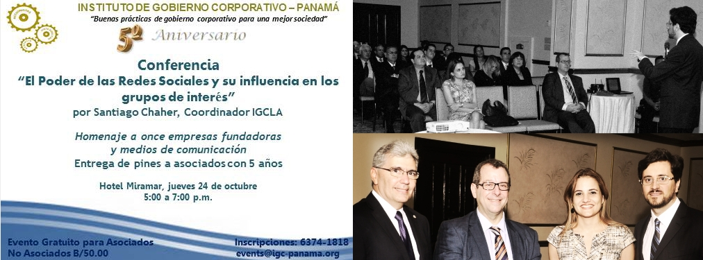 Cefeidas' Managing Director talks about Social Media & Governance at Panama IoD's 5th Anniversary