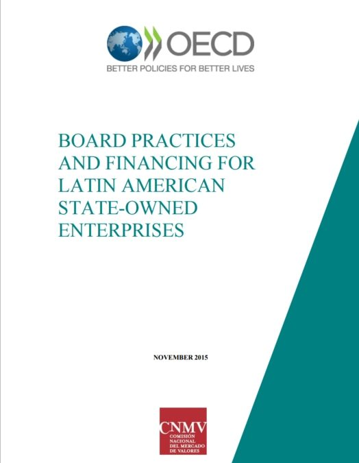 Report on Latin American SOE board practices and financing published in Spanish