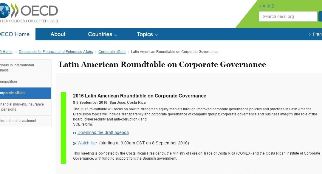 Join Cefeidas Group's Managing Directors at the OECD Latin American Corporate Governance Roundtable via webcast