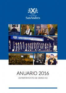 Anuario 2016 Departamento de Derecho