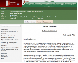 Revista Argentina de Derecho Comercial y de los Negocios