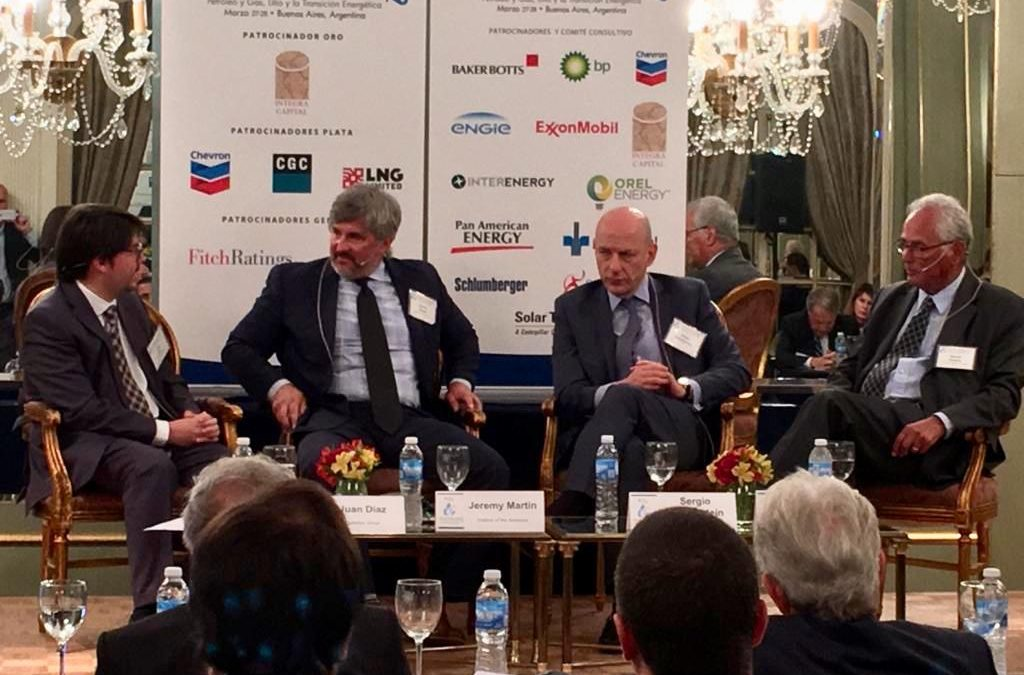 Managing Director Juan Cruz Díaz presented at the Institute of the Americas energy roundtable in Buenos Aires