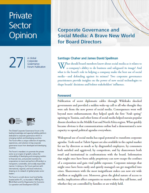Cefeidas Group's Managing Director launches publication about Social Media and Corporate Governance