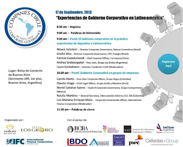 """Managing Director de Cefeidas Group presentará en el evento """"Experiencias de Gobierno Corporativo en América Latina"""""""