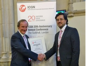 Cefeidas Group Managing Director honored with the ICGN – Hermes Fund Managers' Alastair Ross Goobey Award Scholarship 2015