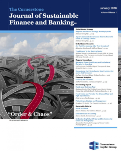 Cefeidas Group's Managing Director quoted in the Journal of Sustainable Finance and Banking on the prospects of Corporate Governance in Argentina