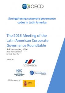 Strengthening corporate governance codes in Latin America