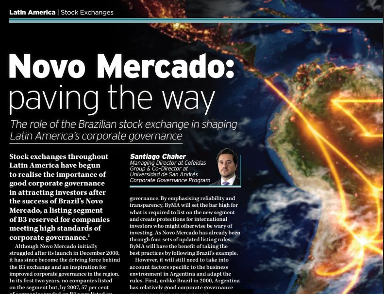 Novo Mercado: paving the way