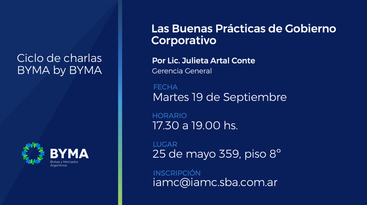 Lead specialist in corporate governance at Cefeidas Group presents at BYMA seminar