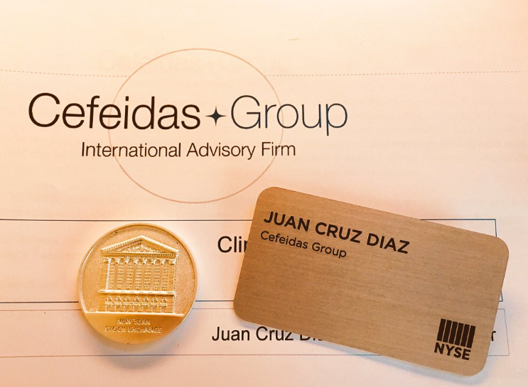 Managing Director of Cefeidas Group invited by the New York Stock Exchange to speak to their Chilean listed companies